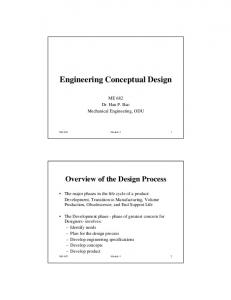 Engineering Conceptual Design