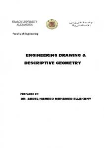 ENGINEERING DRAWING & DESCRIPTIVE GEOMETRY