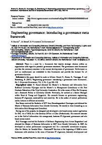 Engineering governance: introducing a governance meta framework