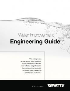 Engineering Guide. Water Improvement