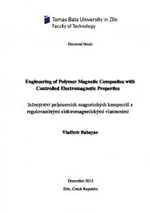 Engineering of Polymer Magnetic Composites with Controlled Electromagnetic Properties