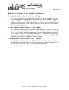 Engineering Students Understanding of Plagiarism