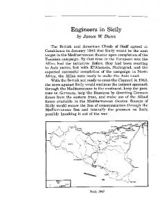 Engineers in Sicily. by James W. Dunn