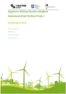 Engineers Without Borders Sheffield Guatemala Wind Turbine Project
