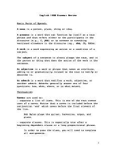 English 1900 Grammar Review