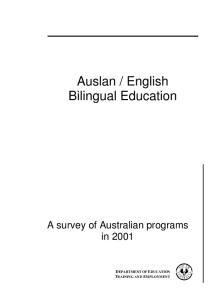 English Bilingual Education