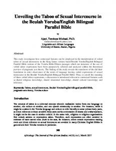 English Bilingual Parallel Bible