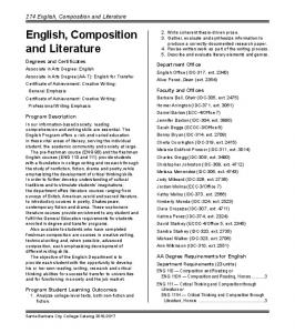 English, Composition and Literature