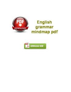 English grammar mindmap pdf