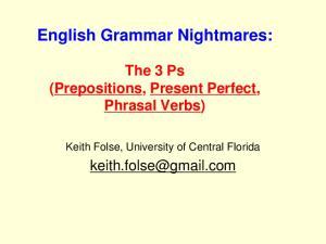English Grammar Nightmares: