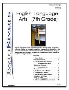 English Language Arts (7th Grade)