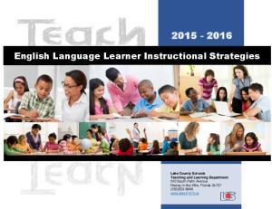 English Language Learner Instructional Strategies