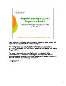 English Learning in Action: Beyond the Basics
