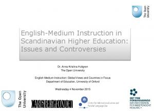 English-Medium Instruction in Scandinavian Higher Education: Issues and Controversies