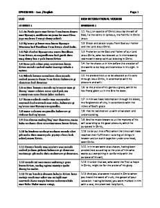 English Page 1 NEW INTERNATIONAL VERSION