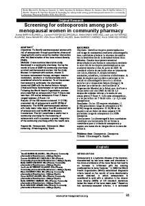 (English) Palabras clave: Osteoporosis. Osteopenia. Cribado. Ultrasonografía. España.  95