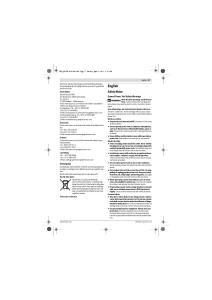 English. Safety Notes. General Power Tool Safety Warnings. Entsorgung WARNING. English 17
