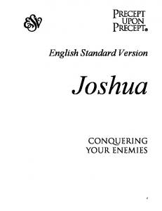 English Standard Version. Joshua. Conquering Your Enemies