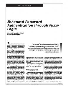 Enhanced Password Authentication through Fuzzy Logic