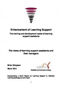 Enhancement of Learning Support