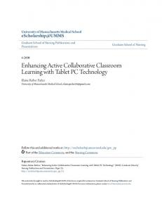 Enhancing Active Collaborative Classroom Learning with Tablet PC Technology