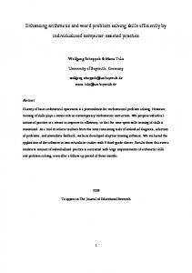Enhancing arithmetic and word problem solving skills efficiently by individualized computer-assisted practice