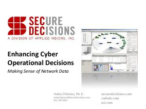 Enhancing Cyber Operational Decisions