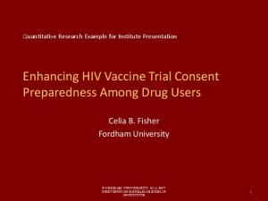 Enhancing HIV Vaccine Trial Consent Preparedness Among Drug Users
