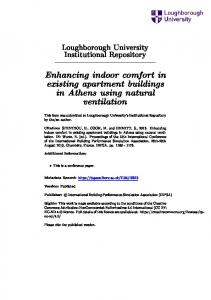 Enhancing indoor comfort in existing apartment buildings in Athens using natural ventilation