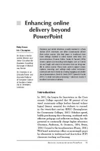 Enhancing online delivery beyond PowerPoint