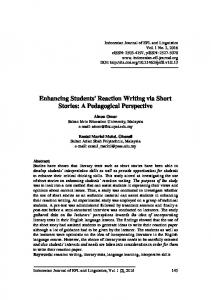 Enhancing Students' Reaction Writing via Short Stories: A Pedagogical Perspective