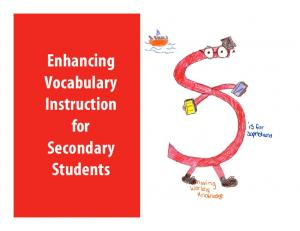 Enhancing Vocabulary Instruction for Secondary Students
