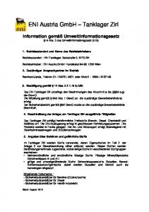 ENI Austria GmbH Tanklager Zirl
