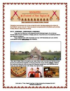 ENJOY NAVRATRI WITH AKSHAR TOURS & TRAVELS