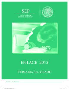 ENLACE 2013 Primaria 3er. Grado