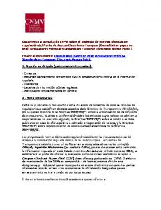 Enlace al documento: Consultation paper on draft Regulatory Technical Standards on European Electronic Access Point