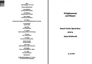 Enlightenment and Dissent