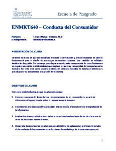 ENMKT640 Conducta del Consumidor
