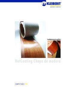 Ennoblecimiento de superficies. HotCoating Chapa de madera