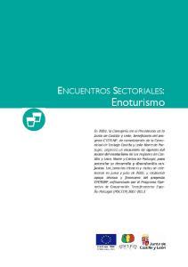 Enoturismo ENCUENTROS SECTORIALES: