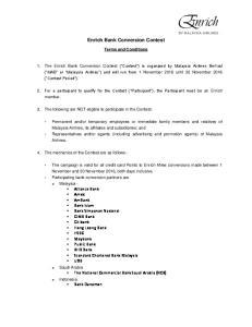 Enrich Bank Conversion Contest