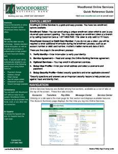 ENROLLMENT NAVIGATION. Woodforest Online Services Quick Reference Guide
