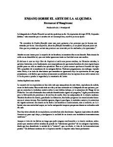 ENSAYO SOBRE EL ARTE DE LA ALQUIMIA