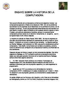 ENSAYO SOBRE LA HISTORIA DE LA COMPUTADORA