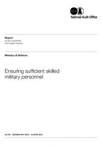 Ensuring sufficient skilled military personnel