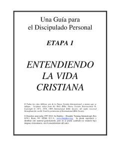 ENTENDIENDO LA VIDA CRISTIANA