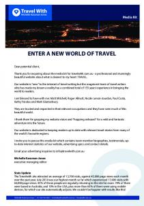 ENTER A NEW WORLD OF TRAVEL