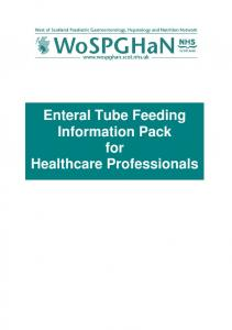 Enteral Tube Feeding Information Pack for Healthcare Professionals