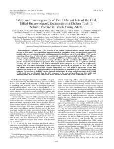 Enterotoxigenic Escherichia coli