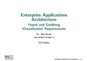 Enterprise Applications Architecture